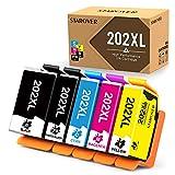 STAROVER Cartucce D'inchiostro Compatibile Sostituzione per Epson 202XL 202 XL per Epson Expression premium Xp-6000 Xp-6005 Xp-6001 Xp-6100 (5 Pacco)