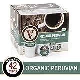 Organic Peruvian for K-Cup Keurig 2.0 Brewers, 42 Count, Victor Allen's Coffee Medium Roast Single Serve Coffee Pods