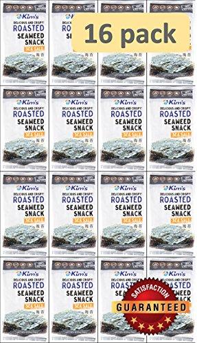Kim's Roasted Seaweed (Nori) Snacks, Sea Salt (16 packs). USA version