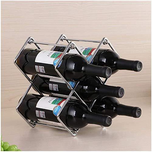 Estantería de vino Racks de vino Metal desmontable libre Estilo europeo europeo Hierro forjado Soporte de vino de hierro forjado para barras Mabador de sótano de bodega Cocina de despensa 5 botellas S
