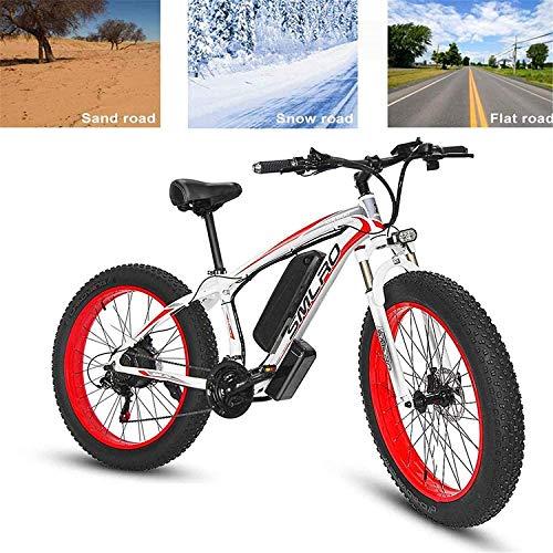 MQJ Ebikes Bicicleta Eléctrica para Adultos Bicicleta Eléctrica de Montaña 26In Asistencia de Alimentación Bicicleta de Cercanías, 500W 48V 15Ah Batería de Litio de Litio Aluminio Montaña Ciclismo Bi