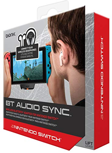 Bionik BT Audio Sync Wireless Bluetooth Adapter: Compatible with Nintendo Switch, Apple AirPods, Beats by Dre, Durable Form Fitting Design, Passthrough USB C Charging Port, Connect 2 Headsets