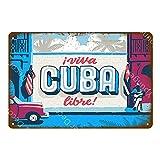 Gratis Cuba City Sightseeing Retro Letrero de metal Cartel de chapa Bar Café Gente Cueva Decoración de la pared del hogar Póster 20x30cm 3