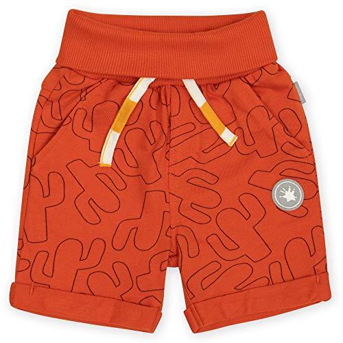 Sigikid Baby-Jungen Shorts aus Bio-Baumwolle für Kinder Bermudas, Rot, 92