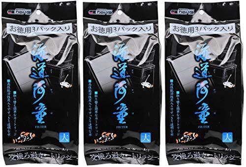 カミハタ 海道河童 大 交換ろ過カートリッジ お徳用3パック入り×3個 (まとめ買い)