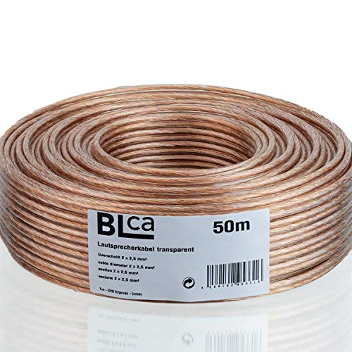 BLCA – 50m - 2 x 2.5mm² - Cable para Altavoces – Cable