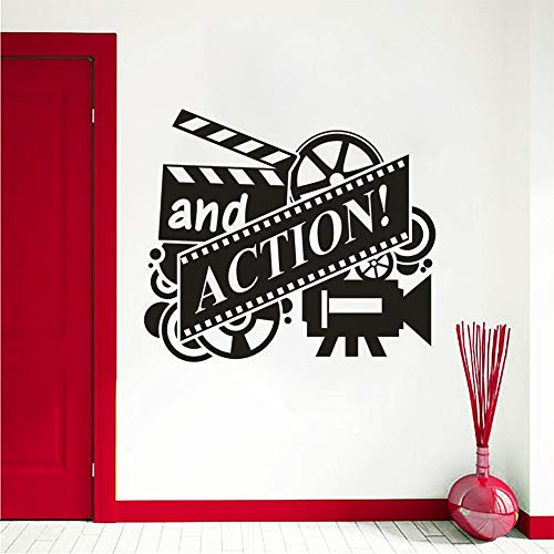 Murales de pared de acción de película rollo de película de cine pegatina de arte de pared decoración de cine extraíble papel tapiz de reproducción de películas A4 57x49 cm