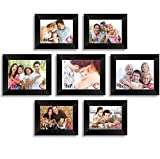 Material : High Quality Synthetic Wood, unbreakable Plexi Glass and Mdf Back; Color : black MULTIPLE DISPLAY & WELL MADE: Comes with 7 pcs picture frames in different size, Material : Premium High Quality Synthetic Wood, Engineered wood composite : M...