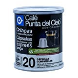 Café Punta del Cielo Capsulas Express Region Chiapas Cosecha Premium Lata, 86.3 gr, Paquete de 20 Piezas