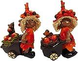 GCG 0620 B - Set di 2 statuette per bambini, con carrello, 14 x 9 cm