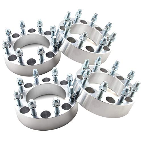 DCVAMOUS 8x180 Wheel Spacers Compatible with Chevy GMC 8 Lug, 4pc 2