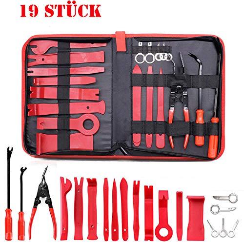 Towinle Demontage Werkzeuge Auto, 19 Stück Zierleistenkeile Verkleidungs Reparatur Werkzeuge Tür Innenraum Zierleisten Verkleidung Lösehebel Tool