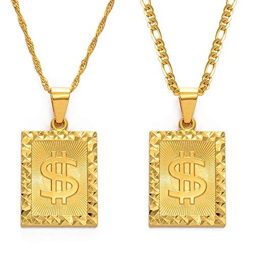 Collares Dinero Símbolo de riqueza Collares pendientes africanos para mujeres Hombres Collar...
