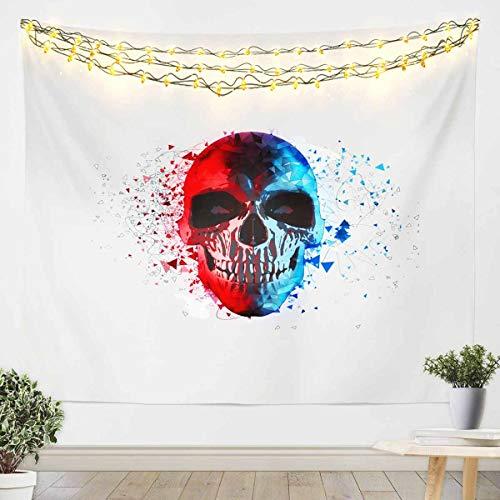 Tapiz para colgar en la pared, diseño de calavera de azúcar, para niños, niñas, niños, Halloween, manta de pared, decoración ultra suave, manta de cama, 152 x 201