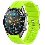 Th-some Correa para Huawei Watch GT 2/ Huawei Watch GT Fashion/Sport/Active/Elegant/Classic/Gear S3 Frontier/Galaxy Watch 46mm/S3 Classic, 22mm Pulsera de Repuesto de Silicona Banda(Verde)