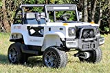First Drive Large Truck - 2 Seater - 12v Four Motor Kids Electric Ride-On Car with Remote Control,Bluetooth MP3 Playback, Aux Cord, Premium Wheels - White