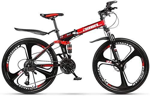 YXIAOL Bicicleta De Montaña Plegable para Adultos, Frenos Doble Disco Todoterreno 27 Pulgadas con Velocidad Variable Absorción Doble Choque para Adultos Al Aire Libre Bicicleta Juvenil,A