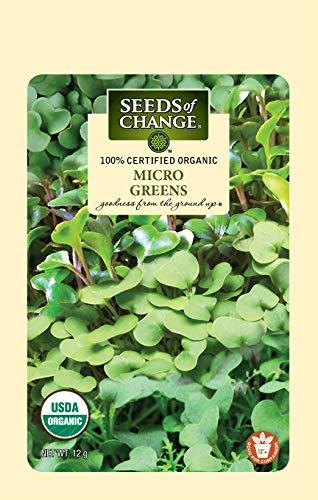 Seeds Of Change 8215 Certified Mild Mix Microgreens, Organic, Seeds, Green