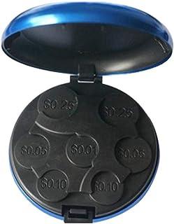 LAIYYI 1 st enfärgad legerad myntorganisatör, bärbar mynt sorteringshållare myntförvaring aluminiumlåda för dollar euro mynt