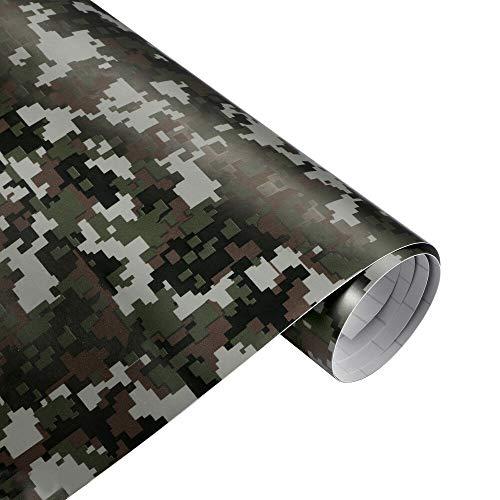 folimac 8,50€/m² Camouflage Autofolie Selbstklebend mitLuftkanäle Car Wrap Autofolie #2 (200cm x 152cm)