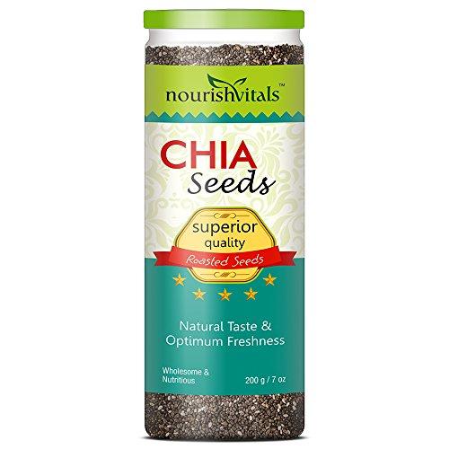 Nourishvitals Superior Quality Roasted Chia Seeds – 200 G