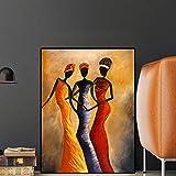 Geiqianjiumai Weinleseporträt-Ölgemälde der Afrikanerin auf gemaltem Poster und skandinavischem...