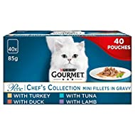 Gourmet Perle Cat Food Chef's Collection, Mixed, 40 x 85g