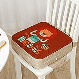 Cuscino Rialzo da Sedia per Bambini, Fansu Comodo e Facile da Pulire Smontabile Regolabile Cuscino Alzasedia per Seggioloni Cuscino Seduta per Sedia da Giardino (Leone,40x40x10cm)