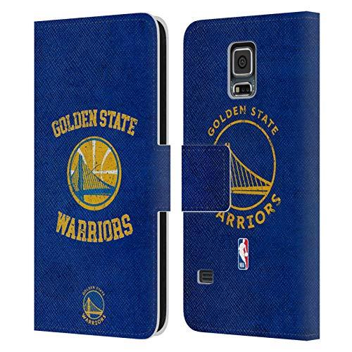 Head Case Designs Ufficiale NBA Aspetto Sdrucito 2019/20 Golden State Warriors Cover in Pelle a Portafoglio Compatibile con Samsung Galaxy S5 / S5 Neo