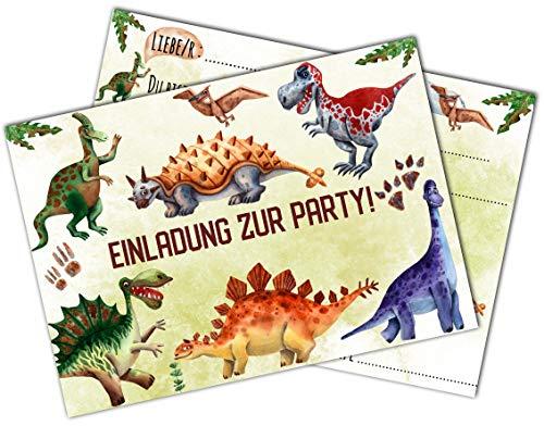 HWart Dinosaurier Einladungskarten Dinoparty Einladung zur Geburtstag Einschulung Geburtstagseinladung Einladung zum Geburtstag (Dino)