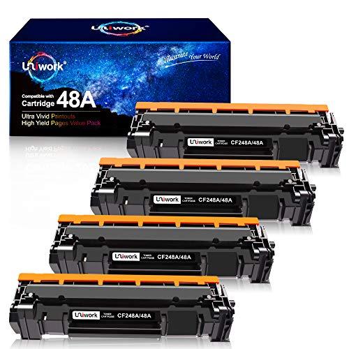 Uniwork Compatible Toner Cartridge Replacement for HP 48A CF248A use for Laserjet Pro M15w M29w M28w M16w M30w M31w M15a Printer, 4 Black