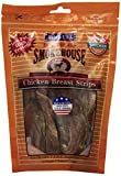 Smokehouse 100-Percent Natural Chicken Breast Strips Dog Treats, 4-Ounce