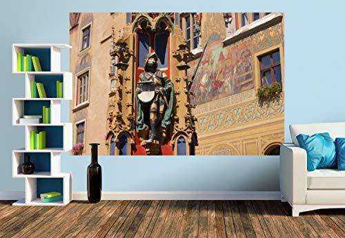 Premium Foto-Tapete Brunnen vorm Ulmer Rathaus (versch. Größen) (Size M | 279 x 186 cm) Design-Tapete, Wand-Tapete, Wand-Dekoration, Photo-Tapete, Markenqualität von ERFURT