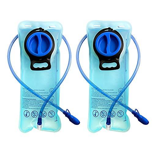 CSDSTORE Bolsa de hidratación (2 unidades, 2 L, TPU), para deportes, senderismo, camping, escalada, color azul