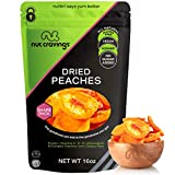 Sun Dried California Peaches, No Sugar Added (16oz - 1 Pound) Packed Fresh in Resealable Bag - Sweet Dehydrated Fruit Treat, Trail Mix Snack - Healthy Food, All Natural, Vegan, Gluten Free, Kosher