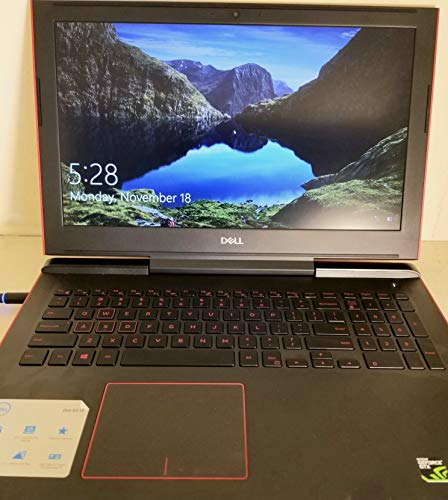 Dell G5 Gaming Notebook Computer 15.6?, Intel Core i7-8750H, Nvidia Geforce GTX 1050Ti 4GB, 8GB RAM, 1TB + 128GB SSD Storage, G5587-7037RED-PUS