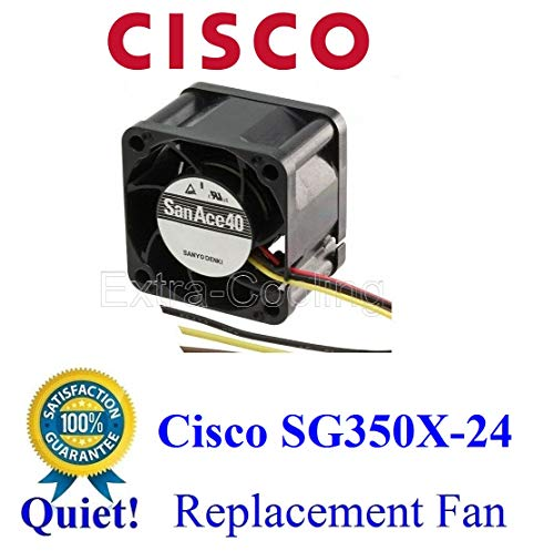 1x Quiet Version Replacement Fan for Cisco SG350X-24 Best for Home Networking