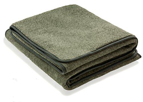 Zaloop 100% Schurwolle Merino Wolldecke Decke Wohndecke Bettdecke Tagesdecke Wolle (ca. 180 x 200 cm, grau)