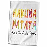 3dRose Hakuna Matata/What a Wonderful Phrase Toalla, Blanco, 15 x 22 Pulgadas