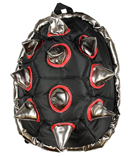 BioDomes Spiked Black-Red Shell Backpack