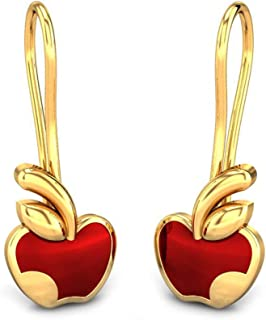 05e1e379b87743 Candere by Kalyan Jewellers 18KT Yellow Gold Drop Earrings for Girls