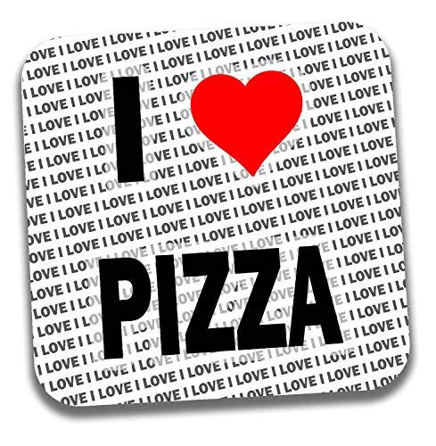 I love Pizza Getränke Untersetzer–Geschenk–Geburtstag–Weihnachten–Strumpffüller