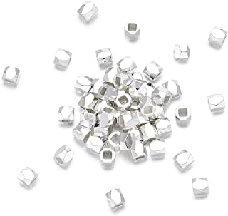 faceted metal beads