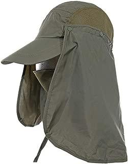 Leisial Sombrero Pesca del Sol Gorra al Aire Libre de Protección Solar Transpirable Cap Sombrero de ala Ancha Protección UV Protege Cuello Cara para Hombre Mujer