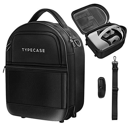 Typecase Oculus Quest 2 Case for Quest 2, Quest 1, Elite Strap & Oculus Quest 2 Accessories - Hard-Shell Travel & Carry Case with Custom Padded Interior - Compact Upright Design - Lens Cover Included