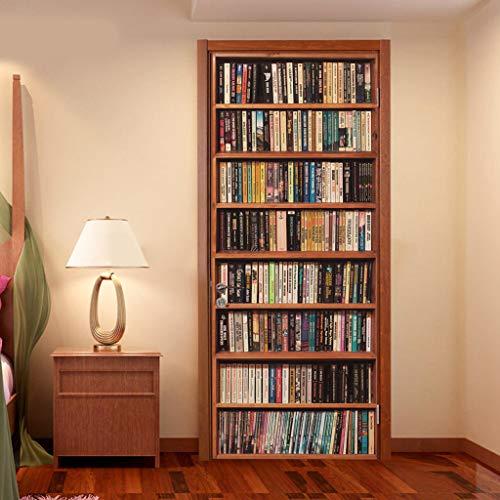 LSAltd DIY Bücherregal Wandsticker Tür Wandtattoos Studie Wandaufkleber Hintergrund für Badezimmer Schlafzimmer Küche Und Kinderzimmer