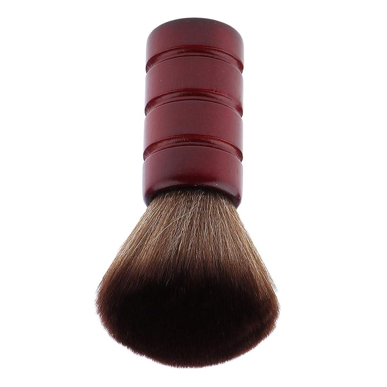 ブリークキャッシュもF Fityle バーバー ネックダスターブラシ 理髪 サロン 顔のダスターブラシ シェービング ヘアカット ブラシ