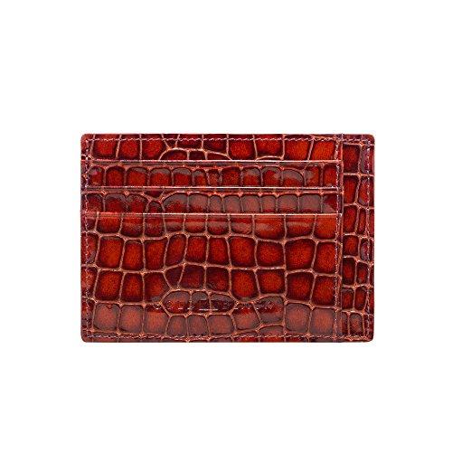 GOLDBLACK premium designer creditcard-etui lederen etui Milano bruin [echt leer] het origineel, klein, dun luxe kaartenetui nobele portmonee ultra slim etui tas van echt leer, 1 jaar garantie