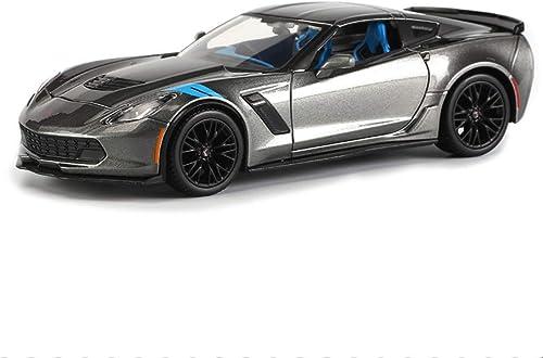 KKD Scale-Modellfahrzeuge ZWeißüriger ZWeißitzer Modellauto Modell Corvette Sportwagen Simulation Legierung Serie Modellauto Weißnachtsgeschenk 1 24 Mini Fahrzeuge