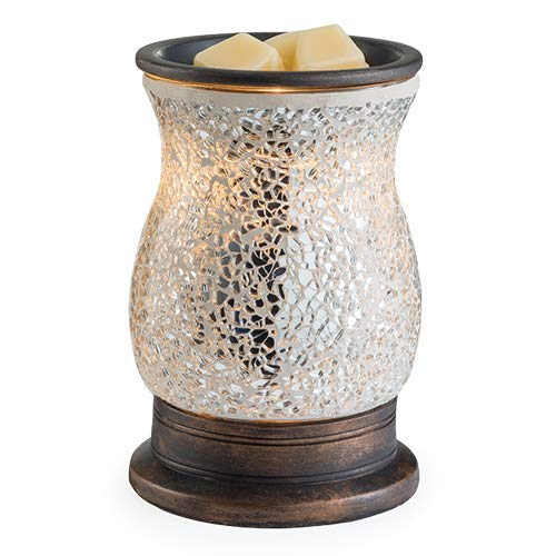 Candle Warmers REFLECTION Illumination Duftlampe elektrisch silber aus Glas